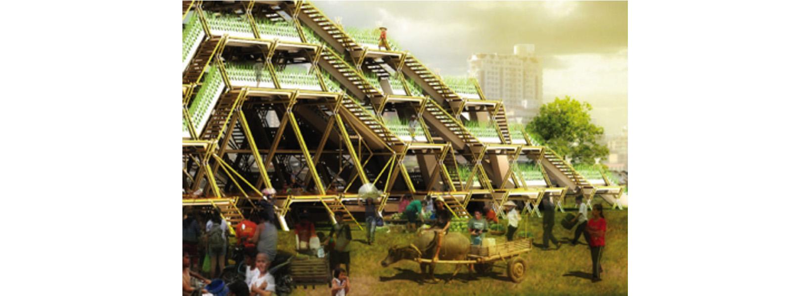 Sistema de aeroponia em bambú