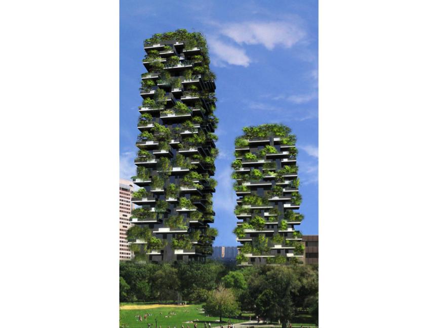 jardim vertical urbano:BOSCO VERTICALE – A floresta vertical de Milão
