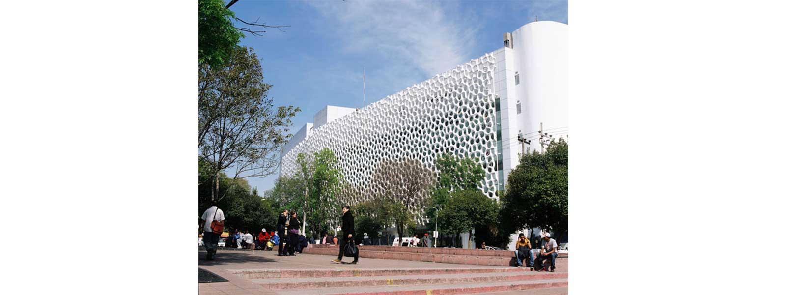 Hospital Manuel Gea Gonzales e sua  fachada anti-microbiana