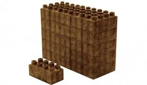 Em formato padrão, blocos de terra têm o mesmo sistema de encaixe das peças Lego.