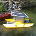 Estação autônoma de análise da qualidade de água/ foto: Neosolar