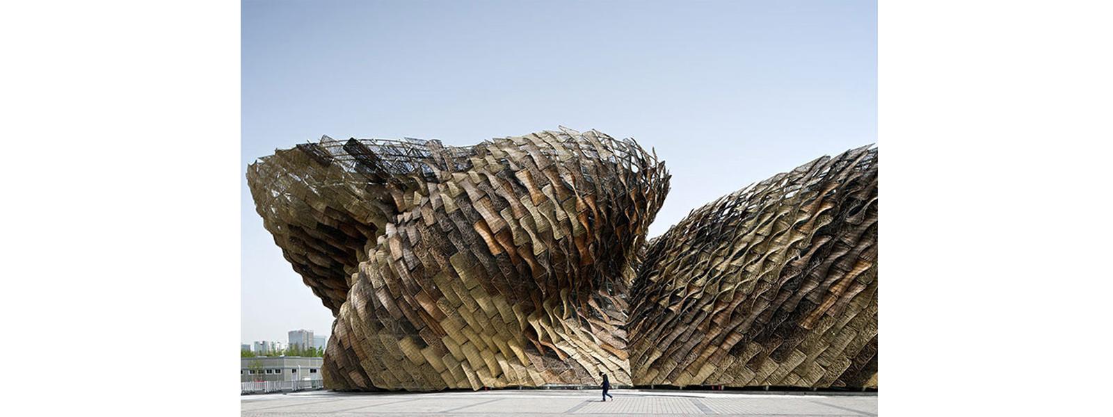 estrutura tensionada, paineis artesanais, forma livre