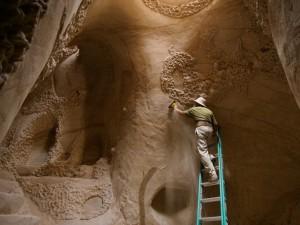 Construção em caverna de arenito