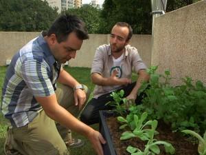 Rafael Loschiavo apresenta as hortas urbanas da Noocity na Rede globo