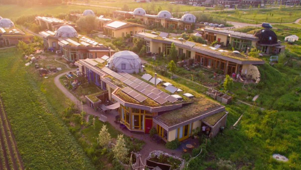 Casas Ecológicas de um sitio sustentável